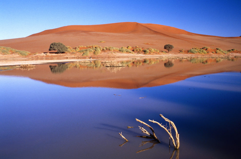 Regenzeit in Namibia: Das überflutete Sossusvlei