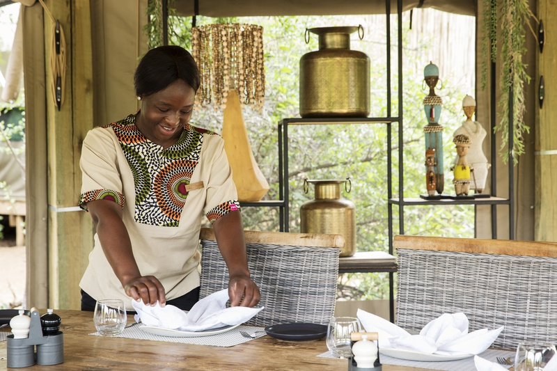 The lovely Florence will make sure your tent at Safari Trails is always neat