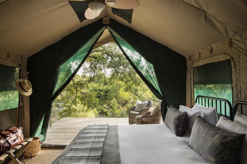 Modern safari tents boost comfort at Safari Trails Camp
