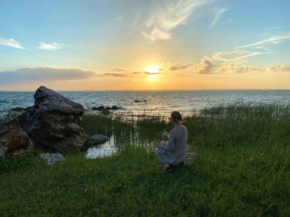 Magical sunset at Lake Sibaya while staying at Thonga Beach Lodge