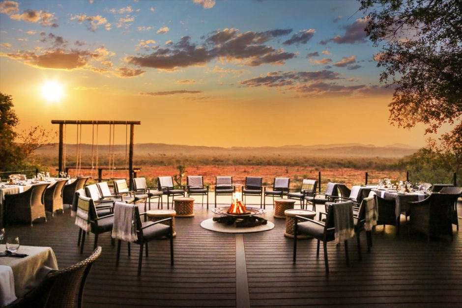 Sunset views from Madikwe Hills Private Game Lodge