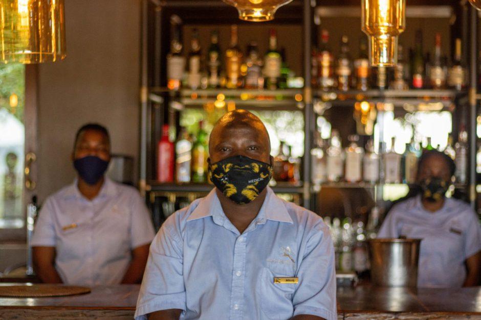 Staff at Madikwe Hills Private Game Lodge wearing masks