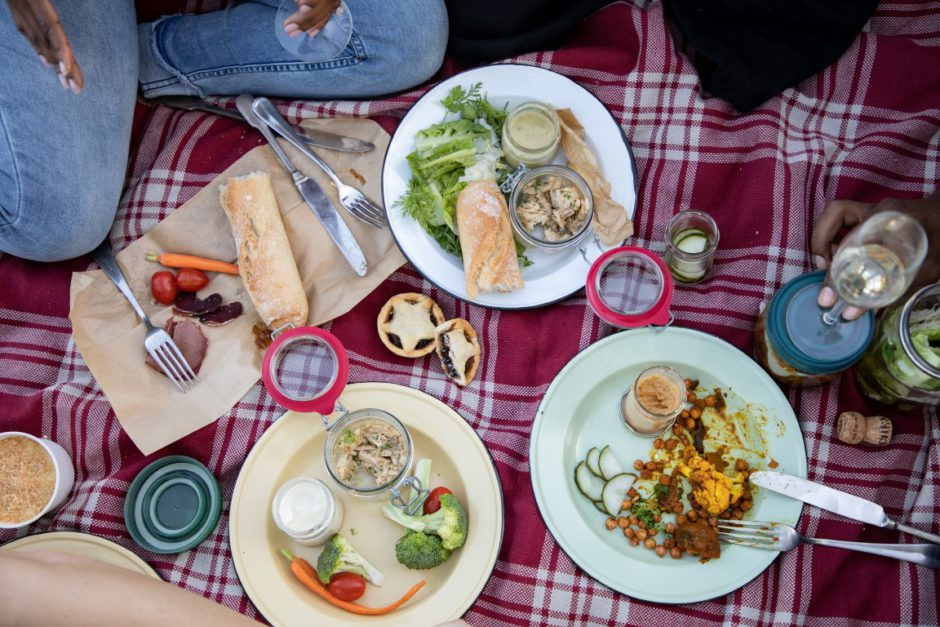 Delicious picnic on the Boschendal Wine Estate in Franschhoek