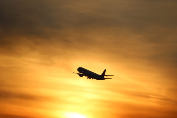 aeroplane-sunset