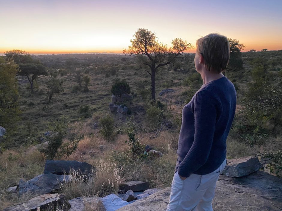 Traumhafter Sonnenuntergang im Sabi Sand Game Reserve