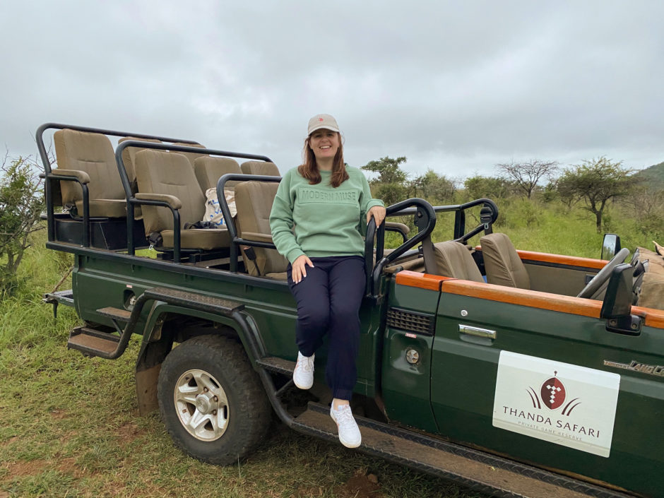 My lovely stay at Thanda Safari Lodge - Ali on a game drive vehicle