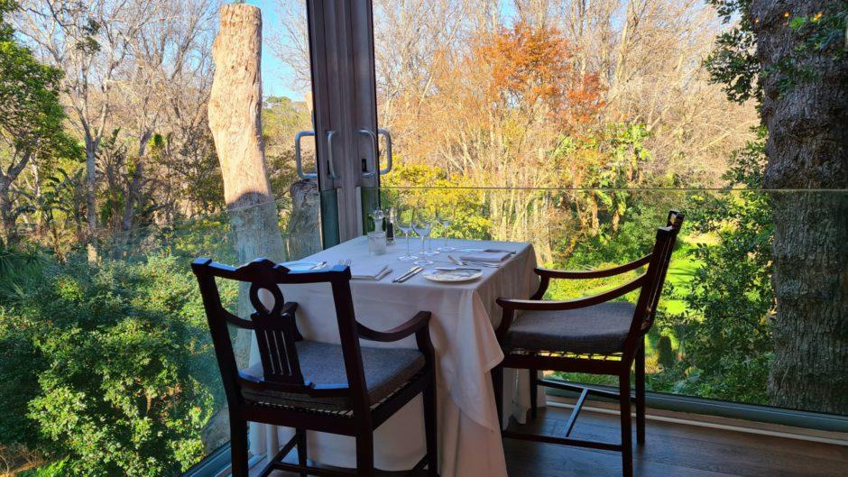 The Cellars-Hohenort: A linda vista do restaurante The Conservatory