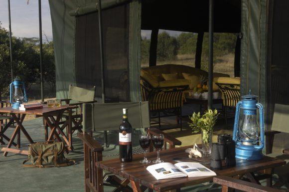 Campamento de rinocerontes de Porini Kenia