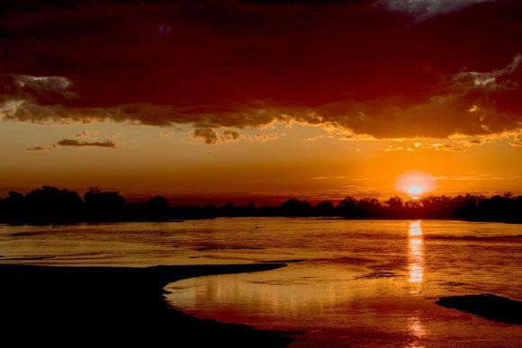 South Luangwa National Park sunset.